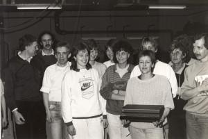 Triasat team med den første producerede Triasat 2000